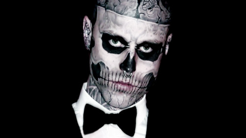 rick genest is way hotter as a zombie speedball zee. Black Bedroom Furniture Sets. Home Design Ideas