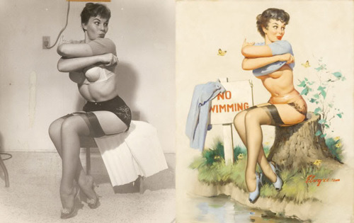The Real Life Models For Classic Pin Up Paintings Speedball Zee